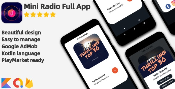 Radio Mini - Full Android Application - CodeCanyon Item for Sale
