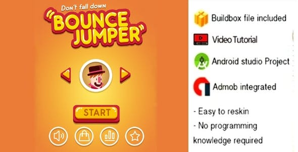 BOUNCE JUMP CITY BUILDBOX & ANDROID STUDIO