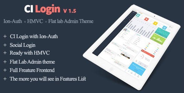 Codeigniter User Management System, Ion-Auth, HMVC with Flat Lab Admin Theme