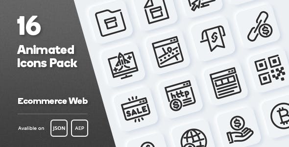 Ecommerce Web Animated Icons Pack