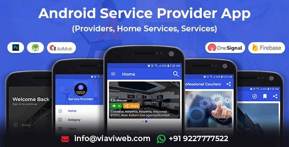 Android Service Provider(Providers,Home Services,Services) - CodeCanyon Item for Sale