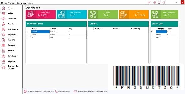 FashionZone - GST Point of Sale (POS) Retail Shop, Market and cloth store, Accounting and Stock
