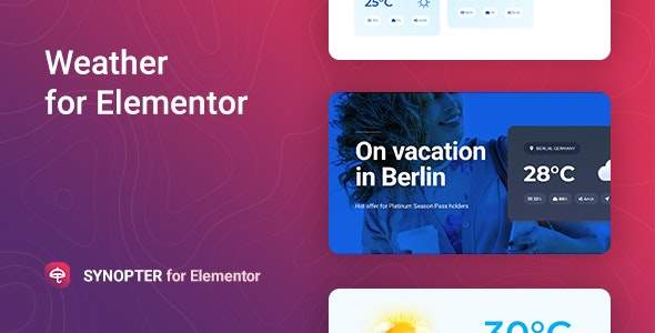 Synopter – Weather for Elementor - CodeCanyon Item for Sale