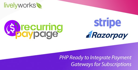Recurring PayPage - PHP Ready to Integrate Payment Gateways for Subscriptions - CodeCanyon Item for Sale