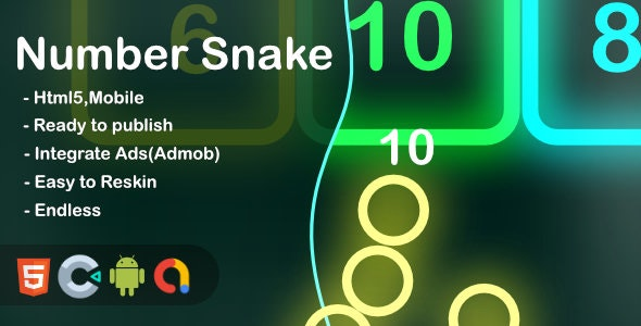 Number Snake (Construct 3 + HTML + Mobile) - CodeCanyon Item for Sale