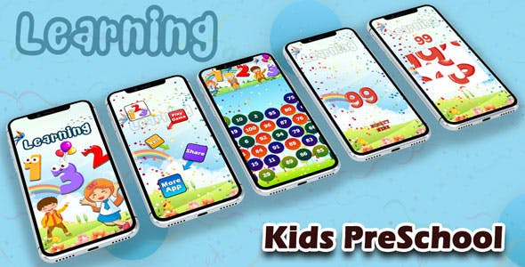 Preschool Numbers:Kids Math Learning Game-Kid Math Puzzle-Android App + Admob + Facebook Integration