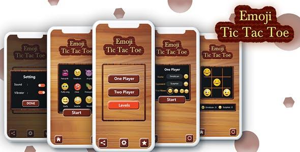 Tic Tac Toe For Emoji - Android App + Admob + Facebook Integration