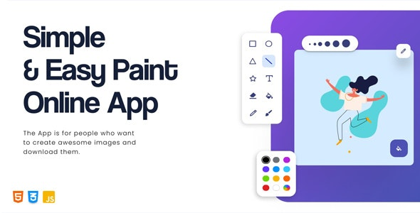 Simple & Easy Paint Online App - CodeCanyon Item for Sale