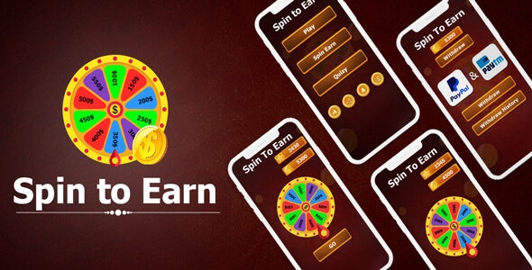 Spin To Win Cash : Spin To Earn - Win Daily Money - Earn Money - Android App + Admob + Facebook - CodeCanyon Item for Sale