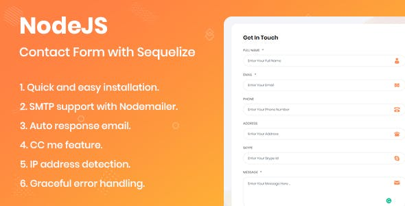 NodeJS Contact Form with Sequelize