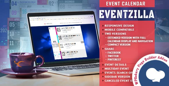 EventZilla - Event Calendar - Addon For WPBakery Page Builder (formerly Visual Composer)