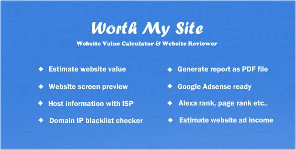 Worth My Site - Website Value Calculator
