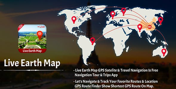 Live Earth Map 2020: Satellite View, GPS Tracker - Android App + Admob Integration