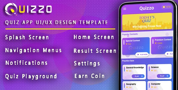 Quiz App - Android UI/UX Design Template