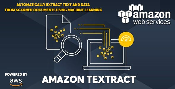 AWS Amazon Textract - Extract Text and Data with Machine Learning
