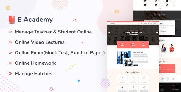 E- Academy - Online Class and Course Management System - CodeCanyon Item for Sale
