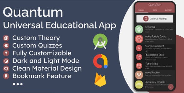 Universal Offline Educational App - Theory (eBook) & Quizzes