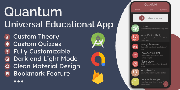 Universal Offline Educational App - Theory (eBook) & Quizzes - CodeCanyon Item for Sale