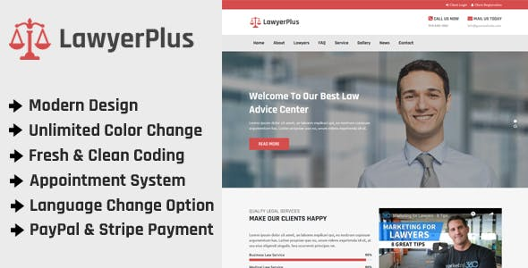 LawyerPlus - Online Lawyer Appointment Management CMS
