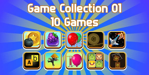 Game Collection 01 (CAPX | HTML5 | Cordova) 10 Games Pack