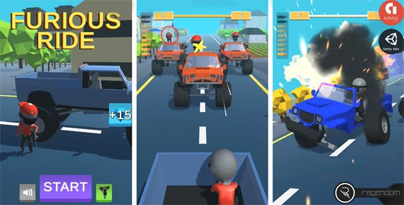 Furious Ride – Complete Unity Game + Admob