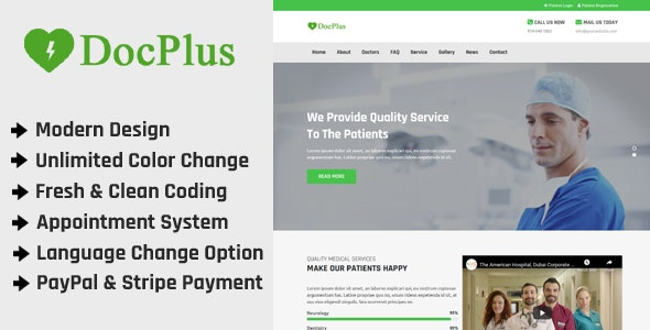 Docplus - Online Multi Doctor Appointment Management - CodeCanyon Item for Sale