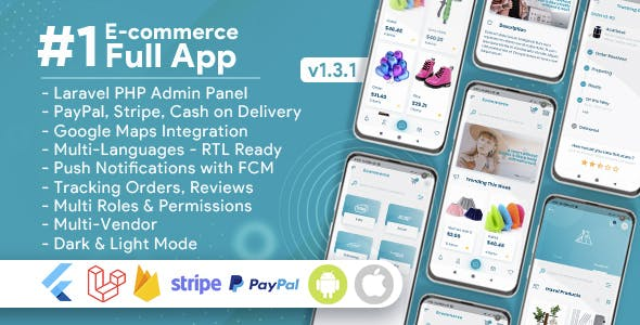 E-Commerce Mobile App with admin panel