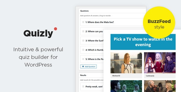 Quizly - Intuitive & Powerful Quiz Plugin for WordPress - CodeCanyon Item for Sale