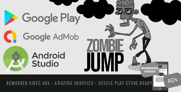Zombie Jump - Android Studio - BuildBox - AdMob Ads Reward Video