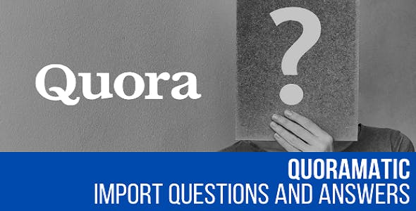 Quoramatic - Questions and Answers Post Generator Plugin for WordPress