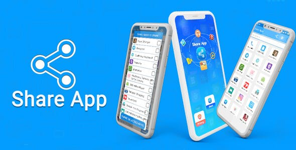 Share Application - Transfer APK & Backup APK - - Android App + Admob + Facebook