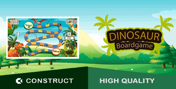 Dinosaur Boardgame - HTML5 Game (capx)