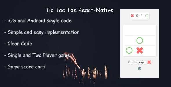 React-Native Tic tac toe - CodeCanyon Item for Sale