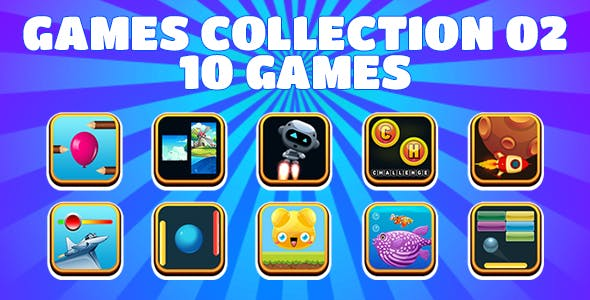 Game Collection 02 (CAPX and HTML5) 10 Games