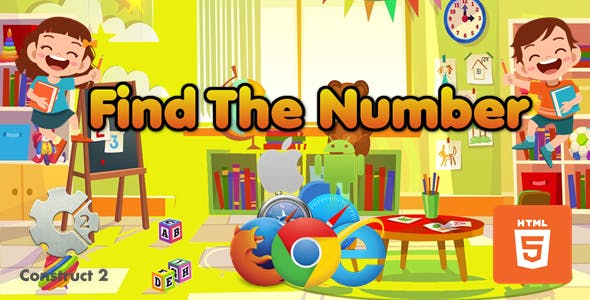 Find The Number - Educational game - HTML5 (.Capx)
