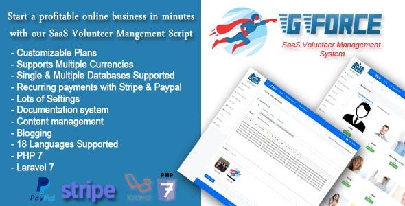 SaaS Volunter Management System - GForce