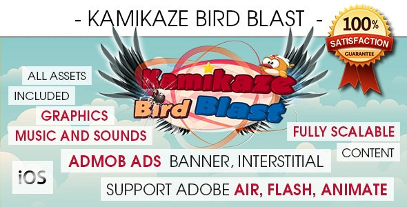 Kamikaze Bird Blast - iOS [ 2020 Edition ] - CodeCanyon Item for Sale