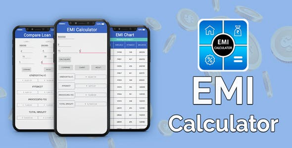 EMI Calculator : Loan & Finance Planner - Android App + Admob Integration