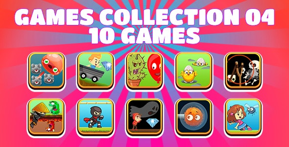 Game Collection 04 (CAPX and HTML5) 10 Games - CodeCanyon Item for Sale