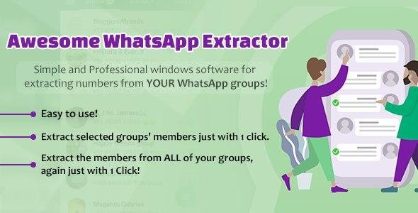 Awesome WhatsApp Extractor - CodeCanyon Item for Sale
