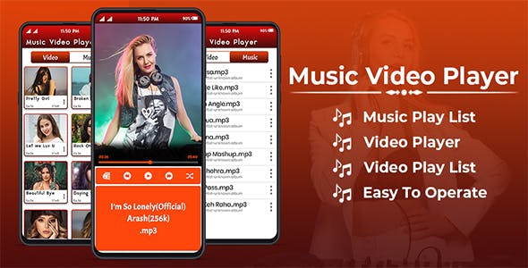 Music Player & HD Video Player - Android App + Admob Integration