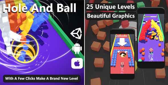 Hole And Ball Game for Android and iOS | Unity Complete Project