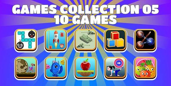 Game Collection 05 (CAPX and HTML5) 10 Games - CodeCanyon Item for Sale