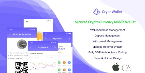 CryptWallet - Crypto Currency Mobile Wallet Pro(iOS)