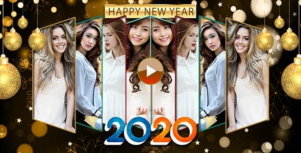 Happy New Year Photo Video Maker 2020 - Android App + Admob + Facebook Integration