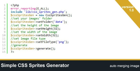 Simple CSS Sprites Generator - CodeCanyon Item for Sale