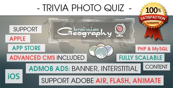 Photo Trivia Quiz With CMS & Ads - iOS [ 2020 Edition ]