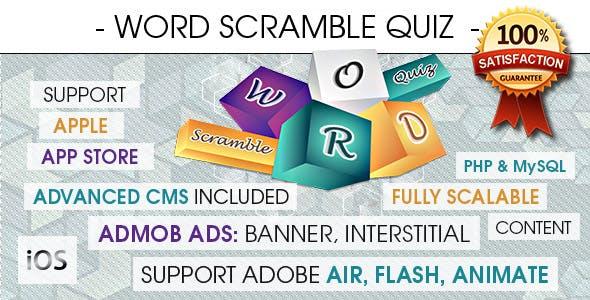 Word Scramble Quiz With CMS & Ads - iOS [ 2020 Edition ]