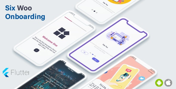 Flutter OnBoarding  6 Styles - Flutter Ui for Ios -android Collection - CodeCanyon Item for Sale