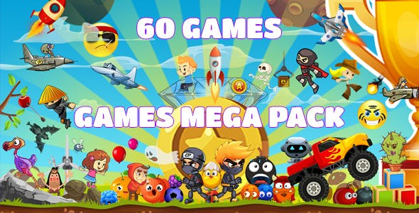 Games Mega Pack (CAPX and HTML5) 60 Games